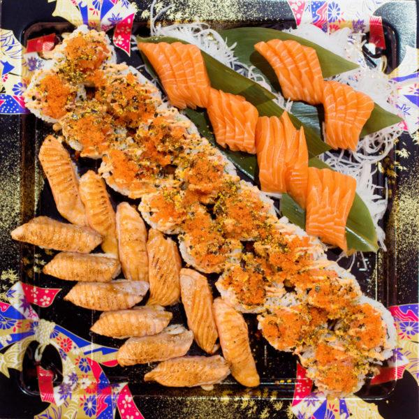Salmon Sushi Sashimi Platter
