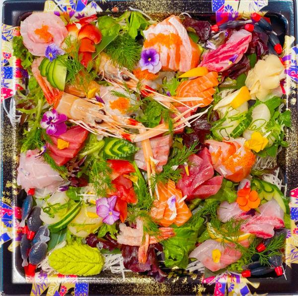 Sashimi Platter with Scampi
