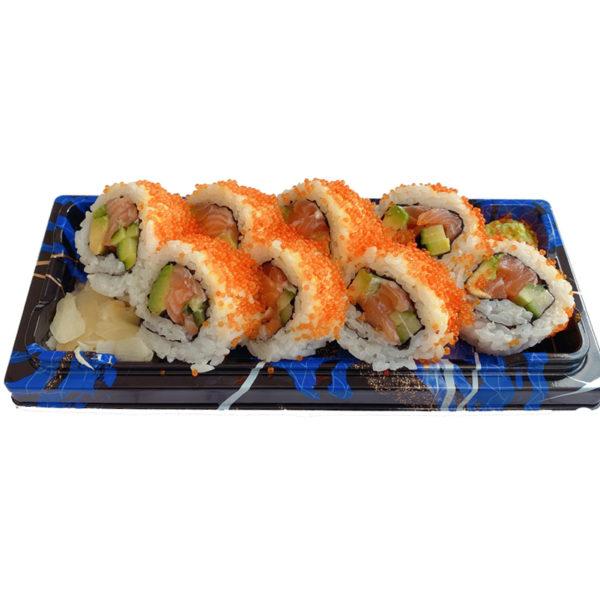 Salmon Avocado Tobiko Uramaki